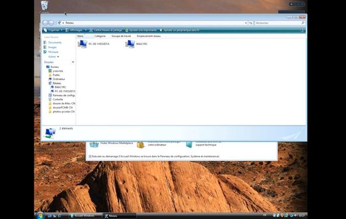 Connexion bureau distance pour mac r glages du mac for Mac fenetre hors ecran