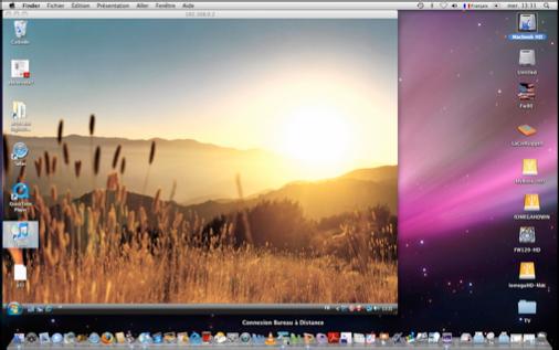 Connectivit MacPC Mac OS X LopardWindows Vista et Windows 7 VI