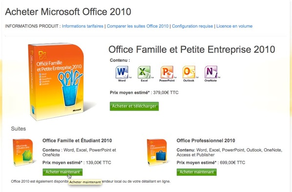 Telechargement - Office professionnel 2010 ...