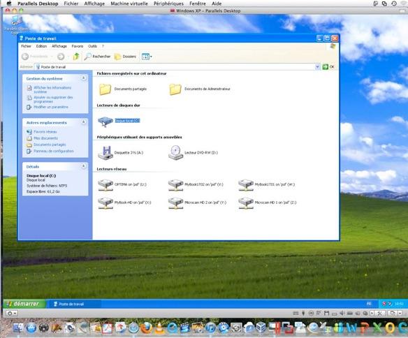 Utiliser xp for Fenetre windows xp